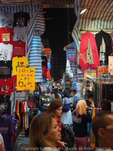 香港のナイトマーケット「女人街」