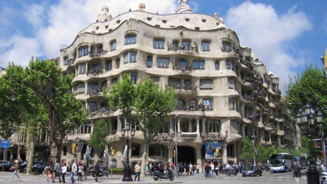 バルセロナのカサ・ミラ(ペドレラ)