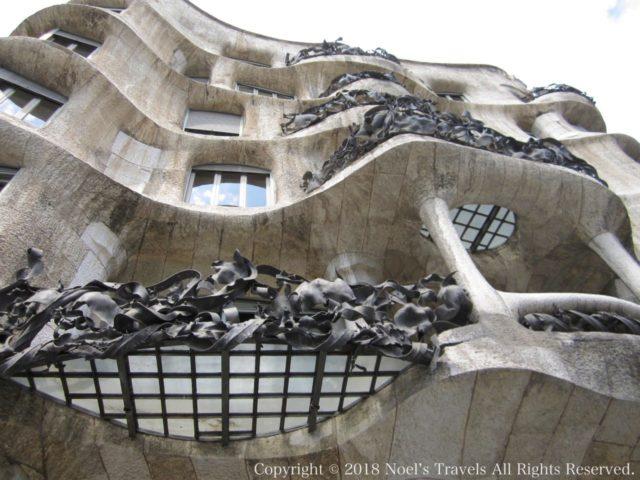 バルセロナのカサ・ミラの外観