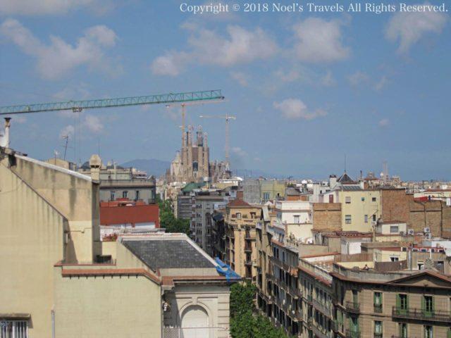 カサミラの屋上からの眺め