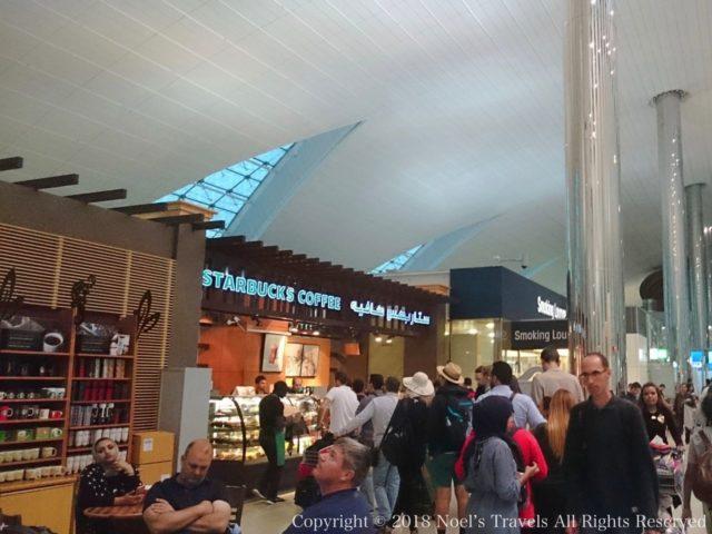 ドバイ国際空港のスターバックス