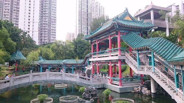 香港の黄大仙の庭園