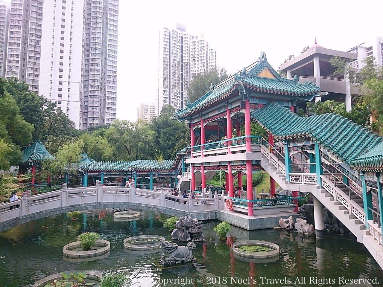 香港の黄大仙の中国式庭園