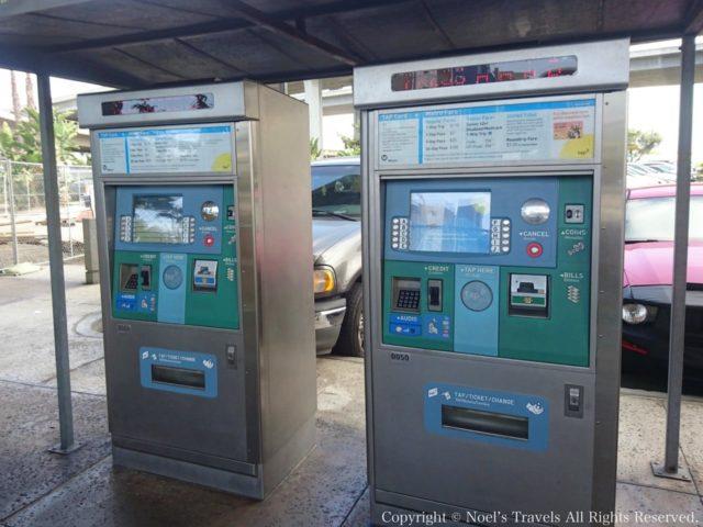 ロサンゼルスのメトロの自動券売機