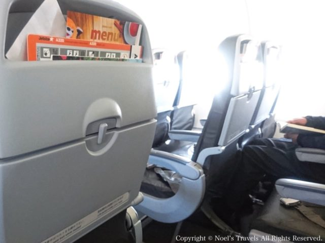 ジェットスター航空のシート