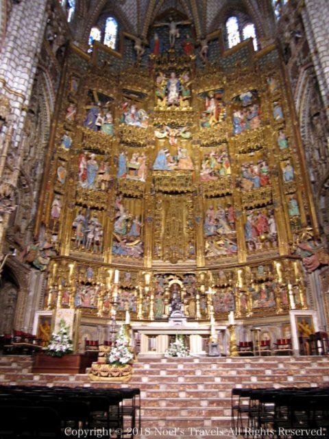 トレド大聖堂の主祭壇