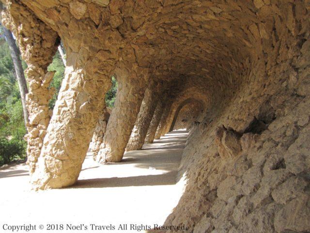 グエル公園の選択女の回廊