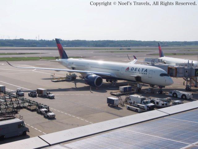 デルタ航空の機体