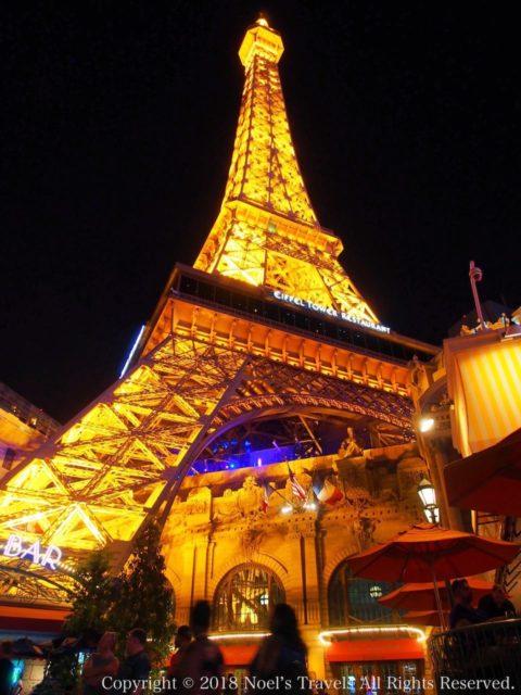 ラスベガスのホテル「パリス」のエッフェル塔