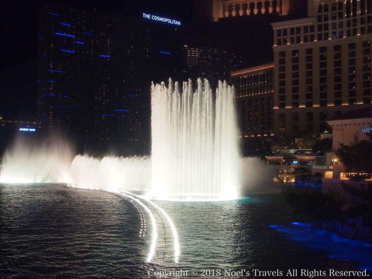 ラスベガスのホテル「ベラージオ」の噴水ショー