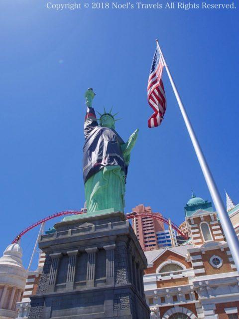 ラスベガスのホテル「ニューヨーク・ニューヨーク」の自由の女神