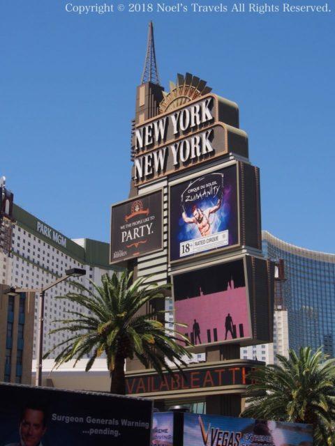 ラスベガスのホテル「ニューヨーク・ニューヨーク」
