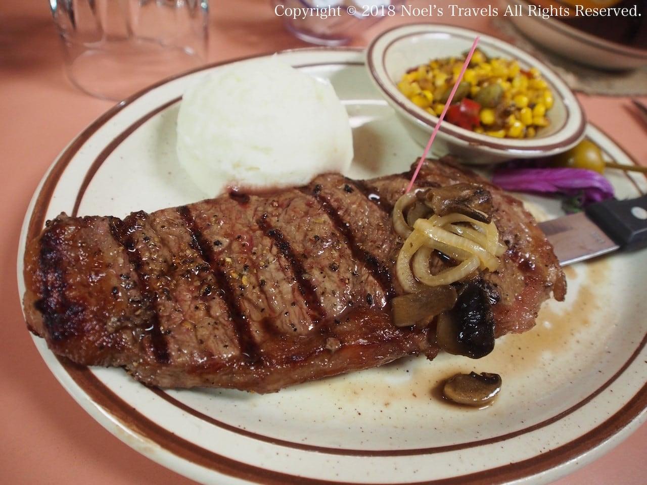 グールディングスロッジのステーキ