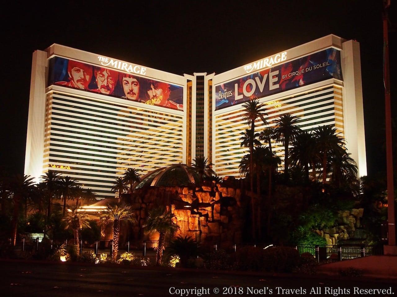 ラスベガスのホテル「ミラージュ」