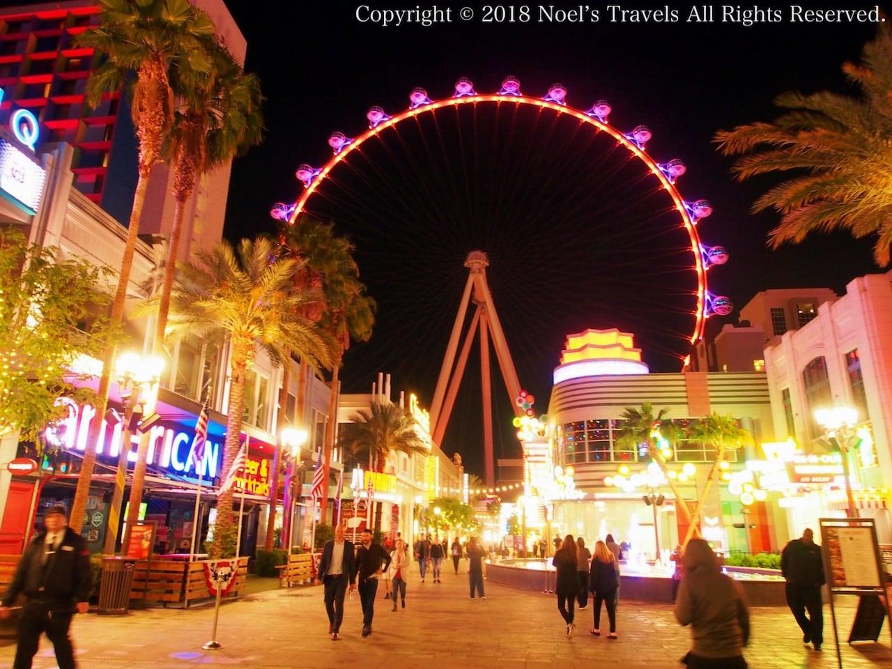 ラスベガスにある世界最大の観覧車「ハイローラー」