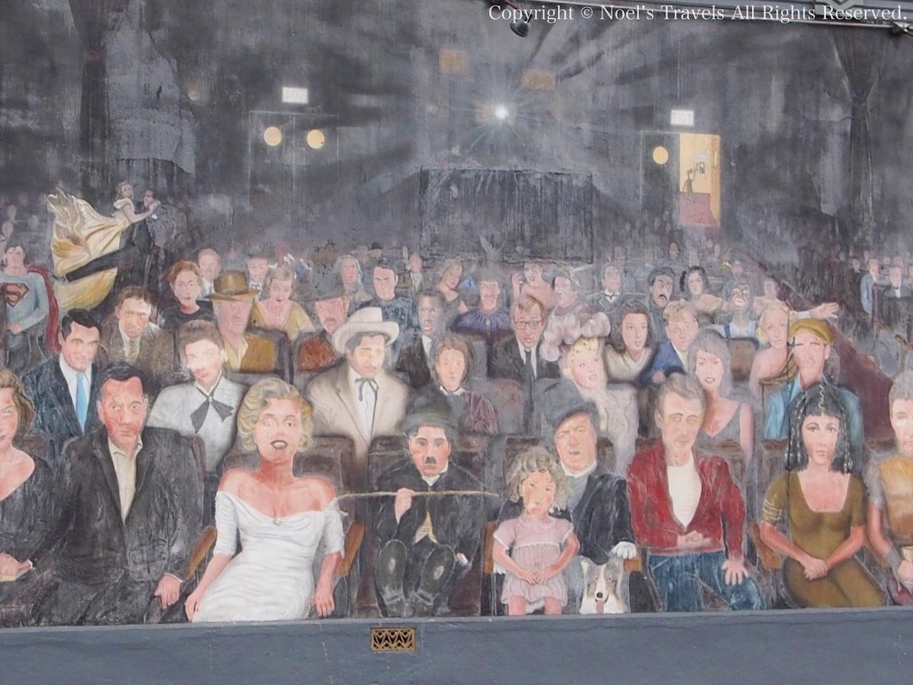 ハリウッドのスターの壁画