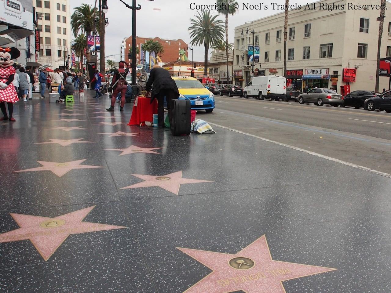 ハリウッドのウォークオブフェイム