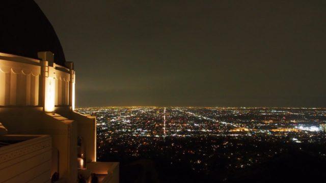 グリフィス天文台から眺めたロサンゼルスの夜景