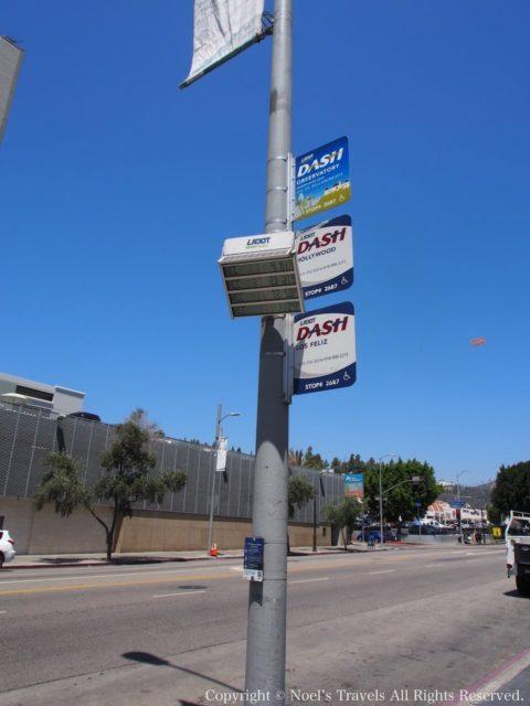 ロサンゼルスのDASHのバス停