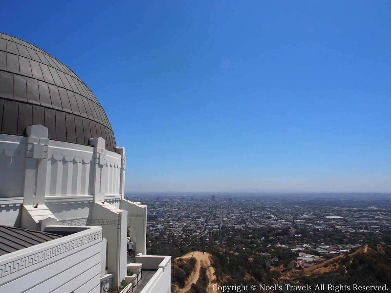 ロサンゼルスのグリフィス天文台からの眺め