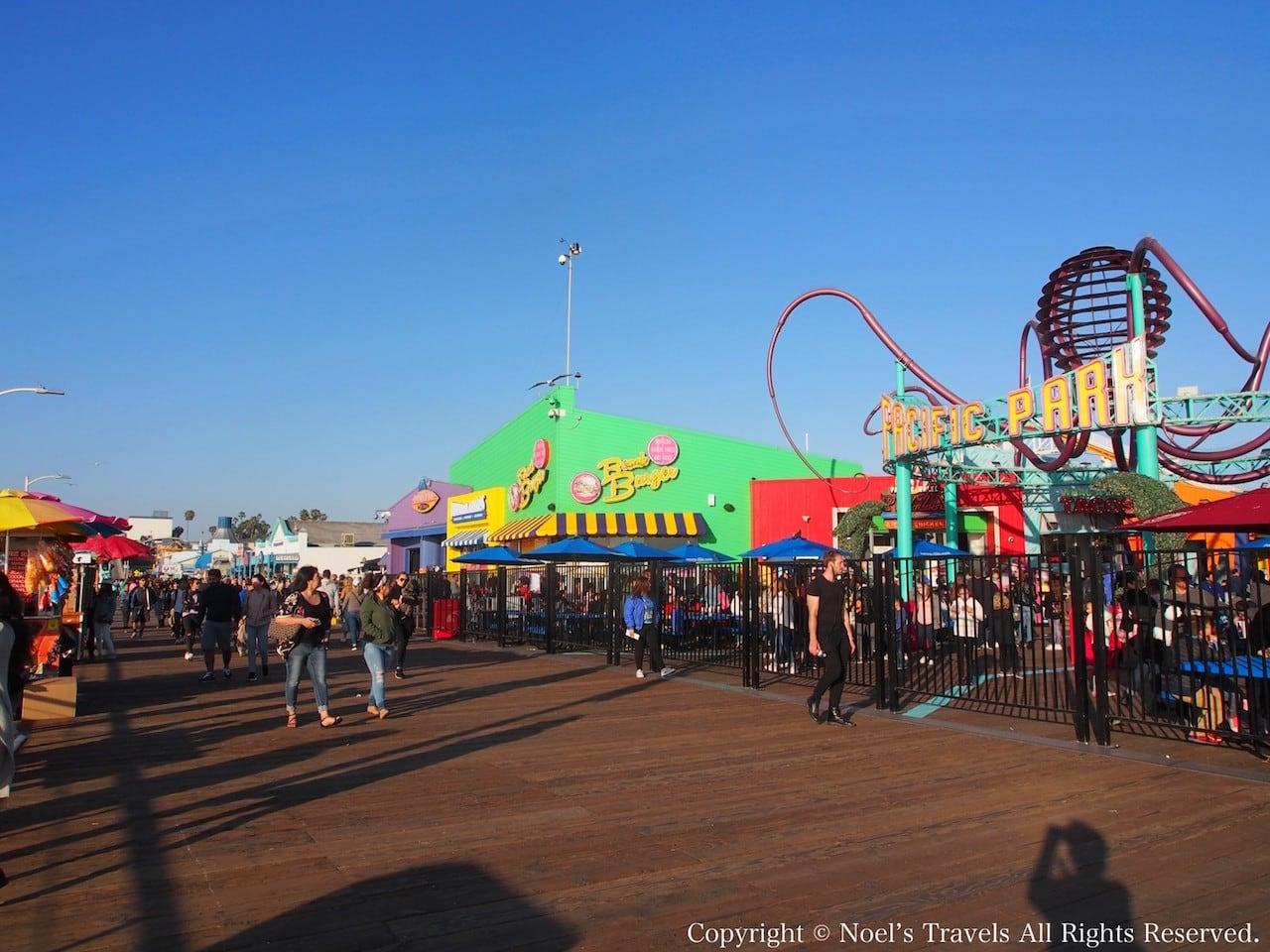 サンタモニカピアの遊園地