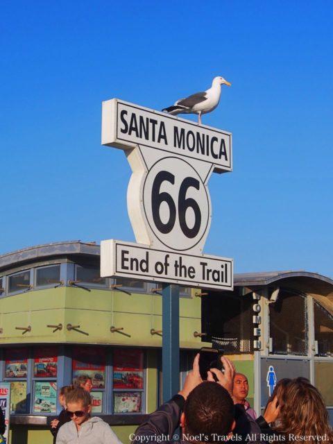 ルート66の終着点サンタモニカ