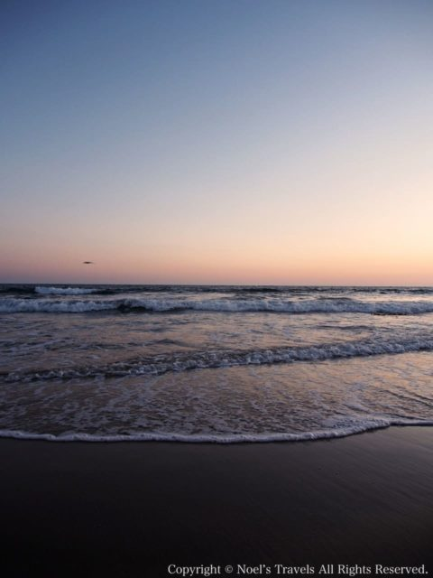 日没後のサンタモニカビーチ