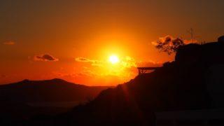 サントリーニ島の夕日