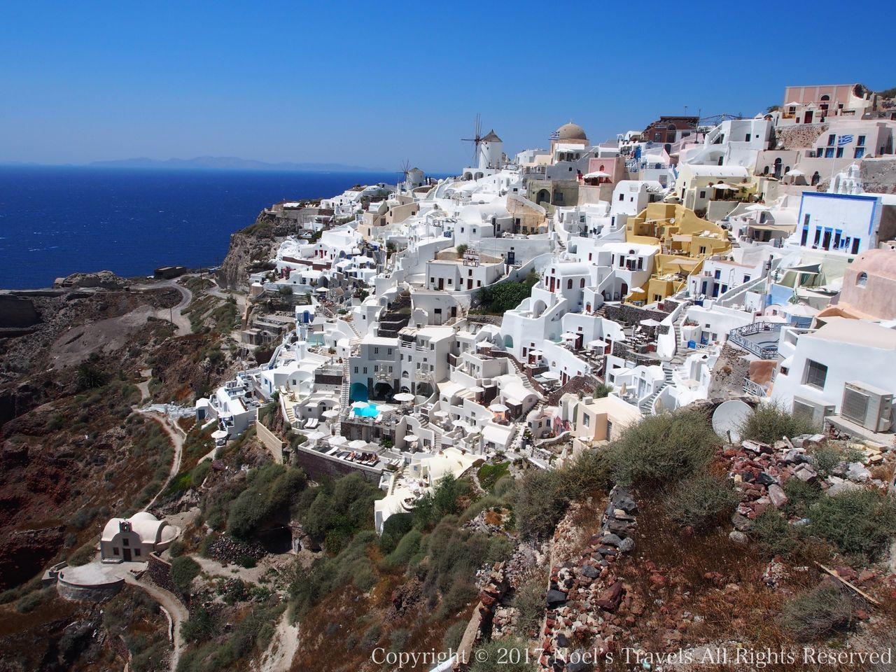 ギリシャ サントリーニ島イアの展望台