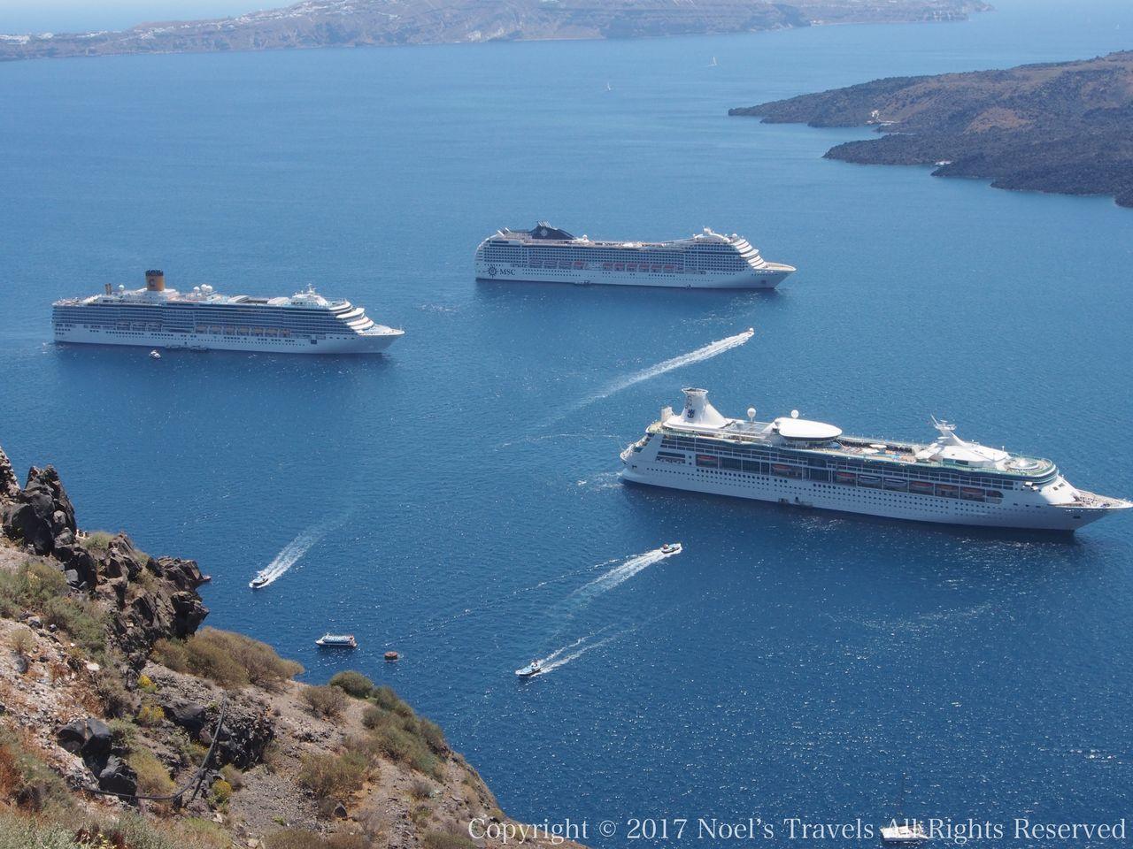エーゲ海のクルーズ船