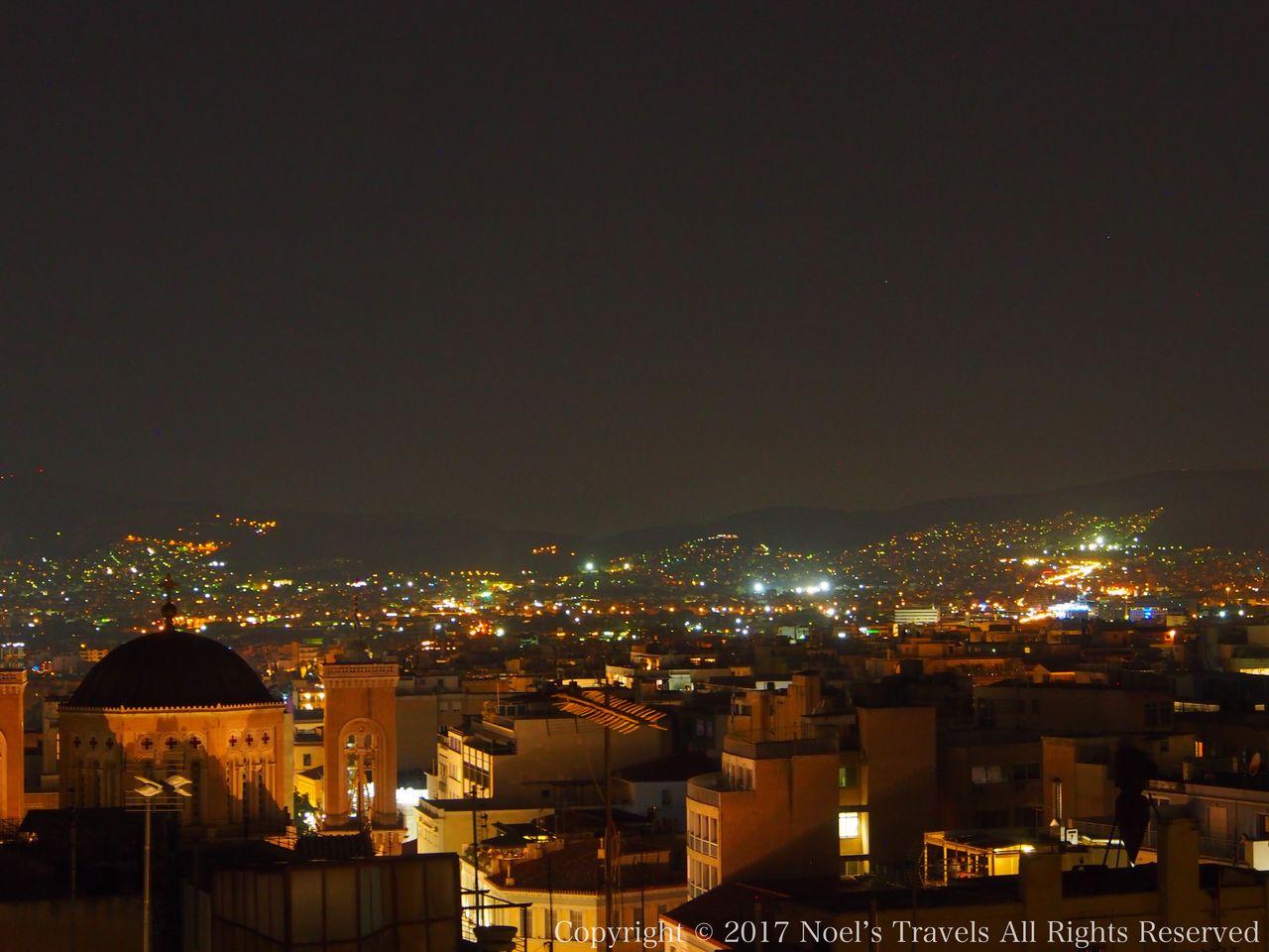 アテネの夜景