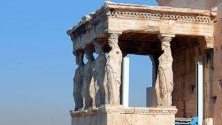 アクロポリスのカリアティードの玄関