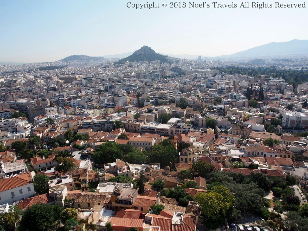 アテネの街とリカヴィトスの丘