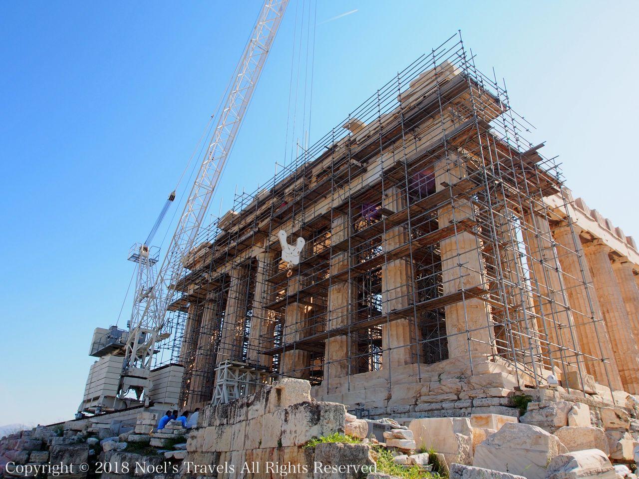 工事中のパルテノン神殿