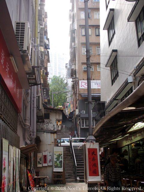 香港セントラルの路地