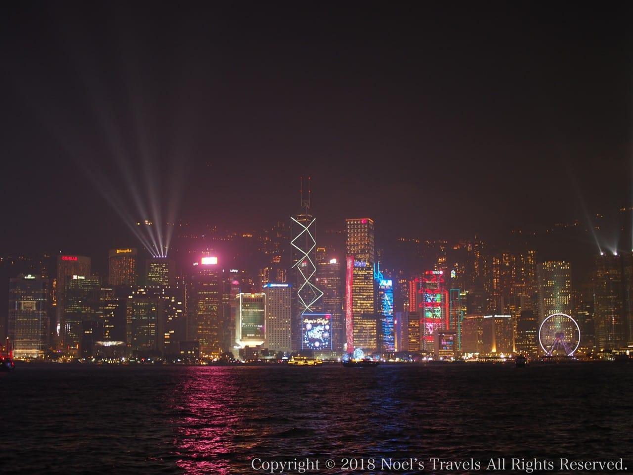 香港の100万ドルの夜景