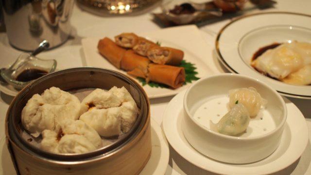香港のレストラン「明閣」の飲茶