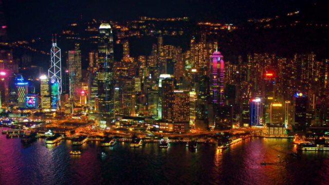 Sky100から見た香港の夜景