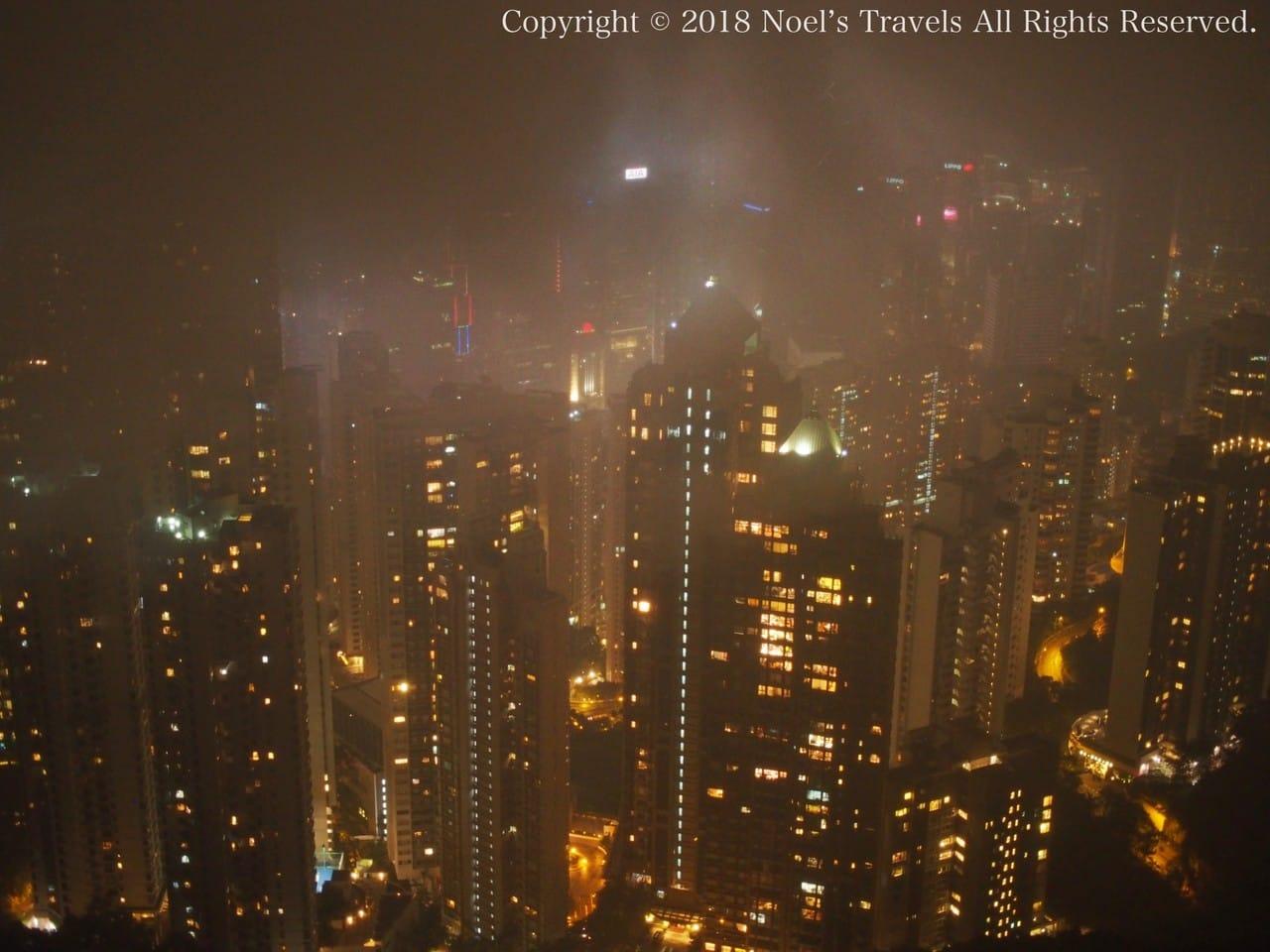 香港のヴィクトリア・ピークからの景色