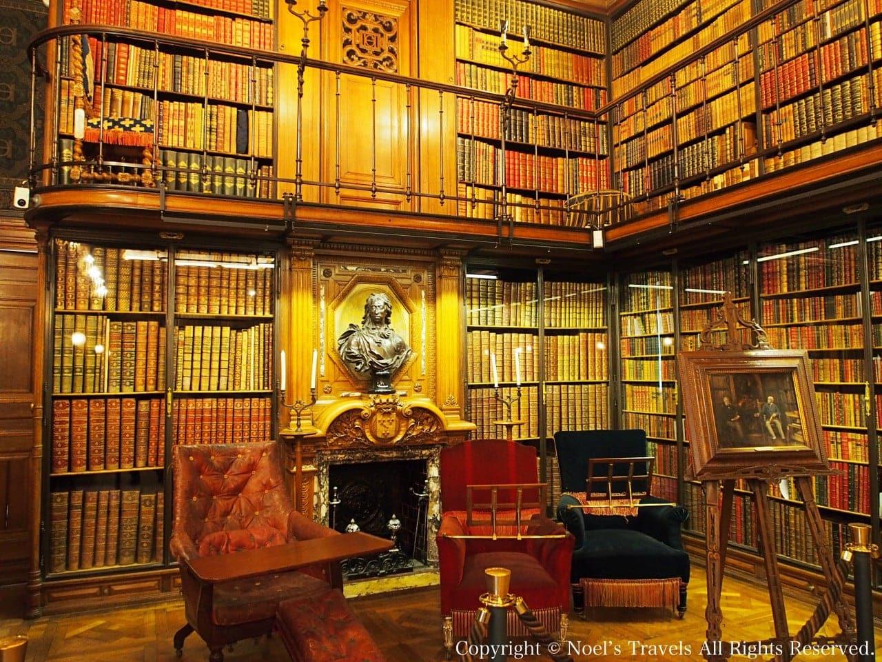 シャンティイ城の図書室