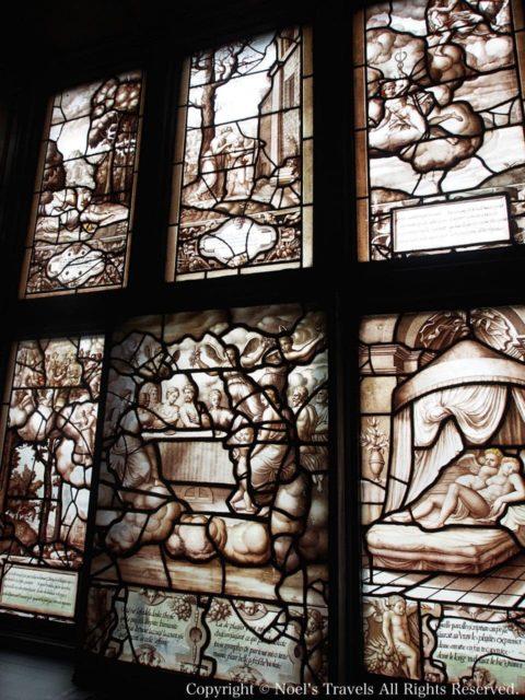 シャンティイ城のステンドグラス