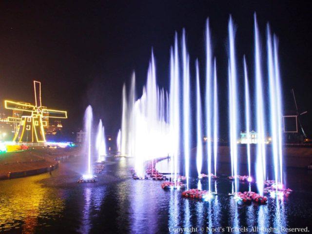 ハウステンボスの噴水ショー