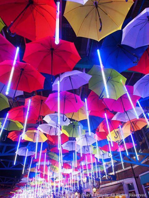 ハウステンボスの傘のアーケード