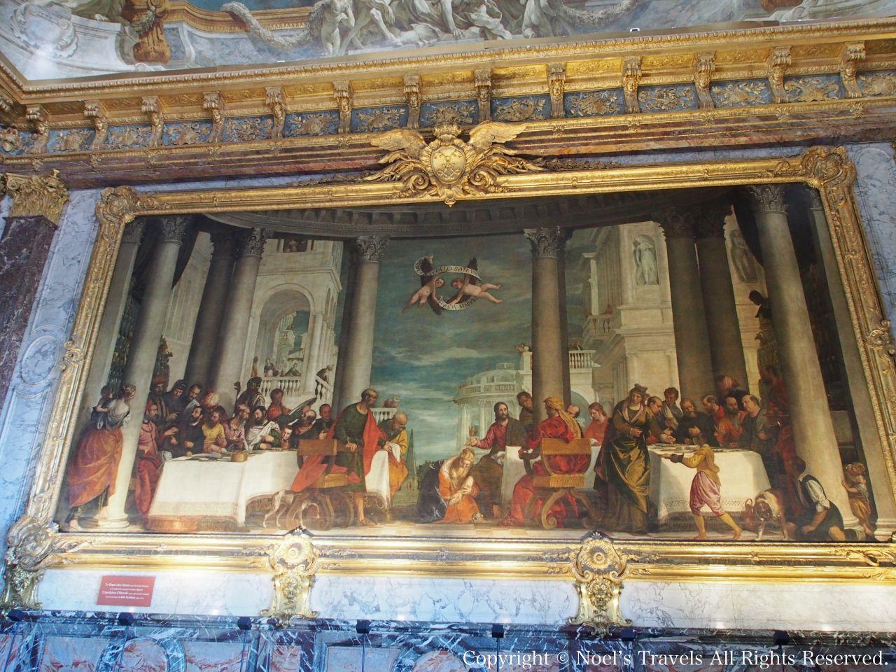 ヴェルサイユ宮殿の「パリサイ人シモン家の宴」