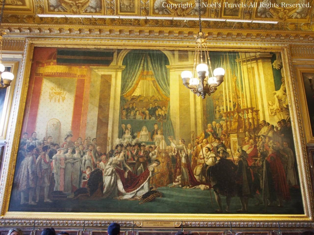 ヴェルサイユ宮殿の「皇帝ナポレオン一世と皇后ジョゼフィーヌの戴冠式」