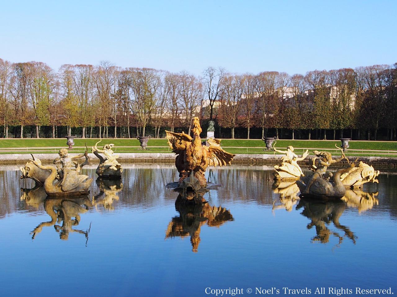 ヴェルサイユ宮殿のドラゴンの噴水