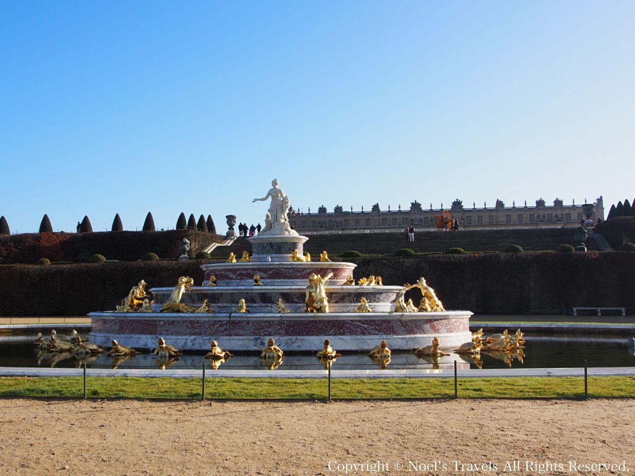 ヴェルサイユ宮殿のラトナの噴水