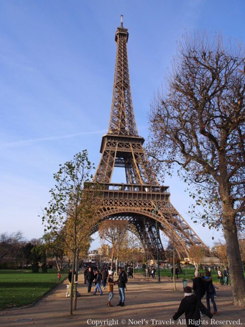 シャン・ド・マルス公園から見たエッフェル塔