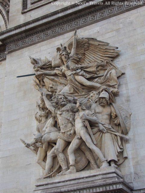 凱旋門の彫刻「1872年 出陣(ラ・マルセイエーズ)」