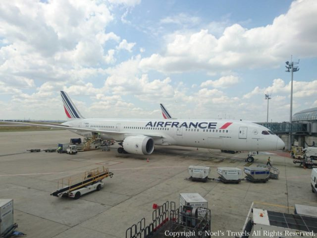シャルル・ド・ゴール空港のエールフランス機